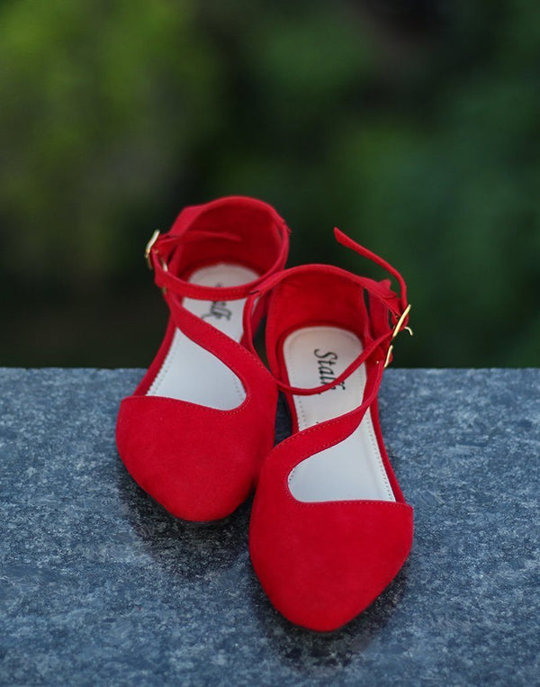 Blood Red Ballet Flats