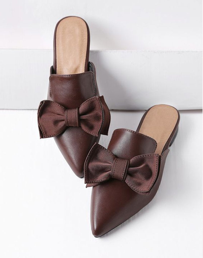 Basic Brown Bow Tie Flats