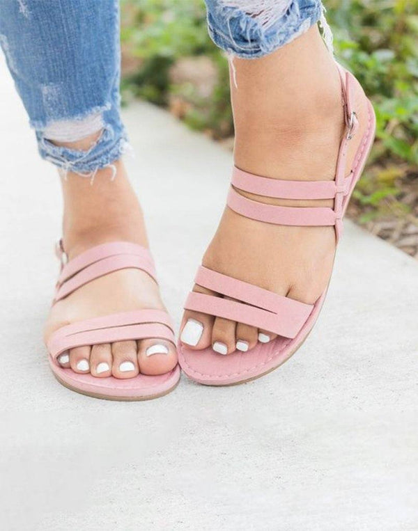 Refreshing Pink Strappy Flats