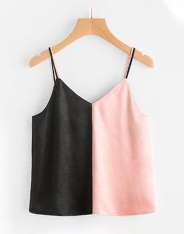 Double Trouble Pink And Black Top