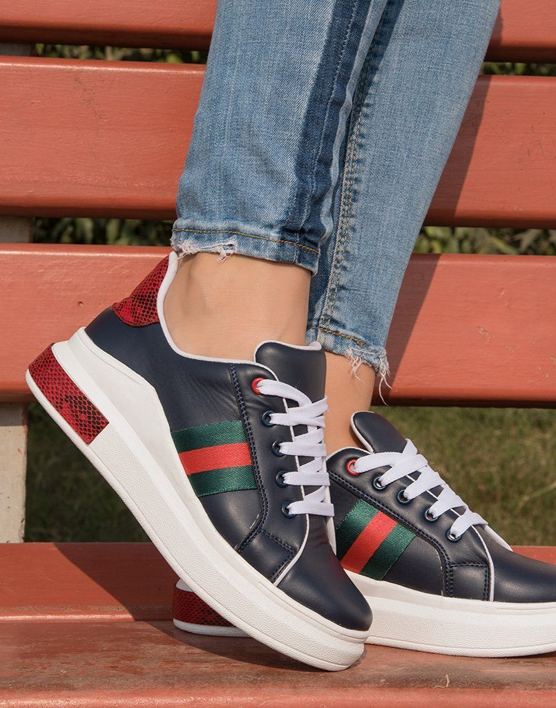 Step Above Red Black Sneakers