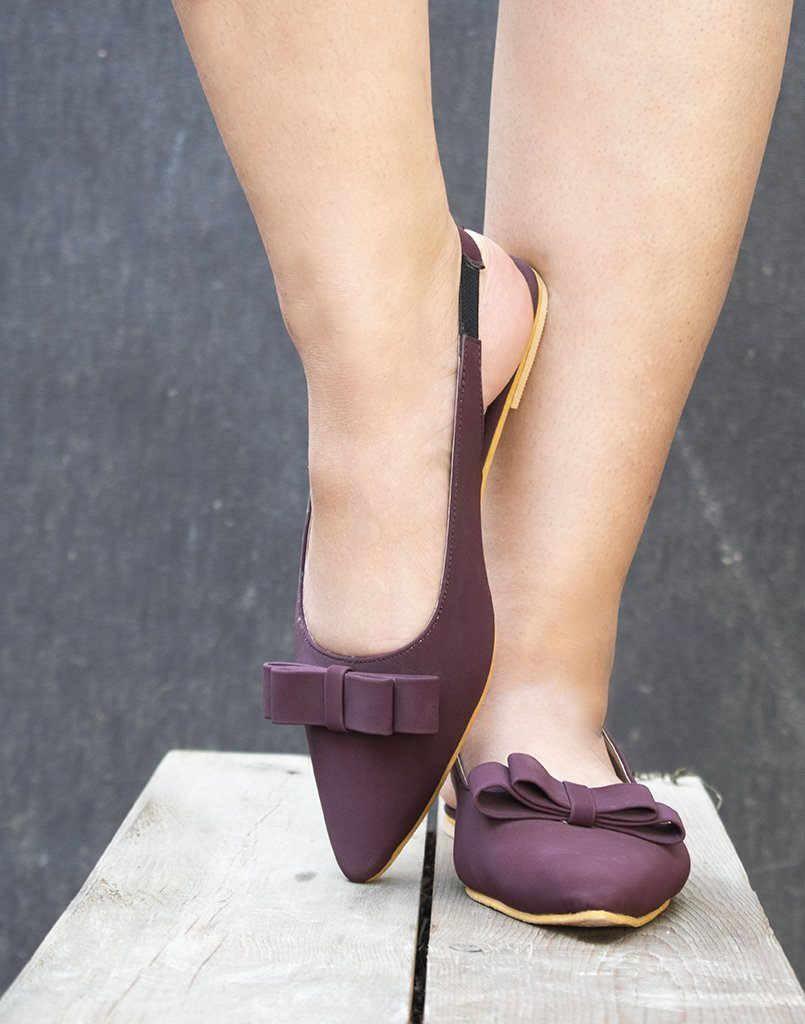 Pointed Toe Wine Ballerina