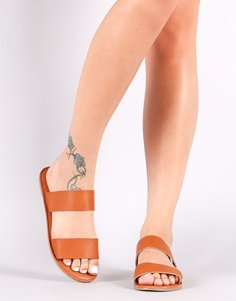 Tan Brown Slip-On Flats