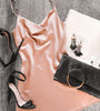 Peach Magic Satin Silk Dress