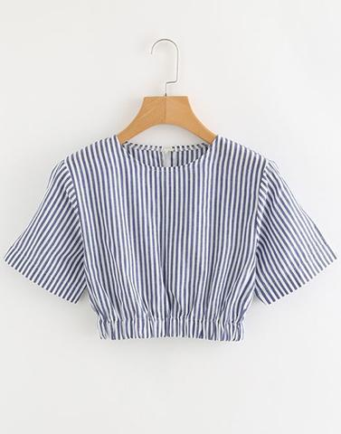 Sincerely Striped White Top