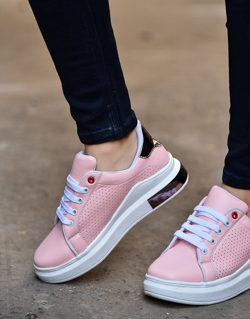 Modish Pink Metallic Sneakers