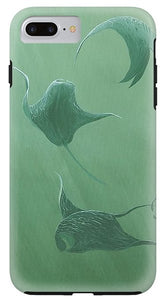 Dancing Manta Rays - Phone Case