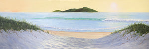 Morning Beach Serenity Acrylic Painting