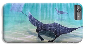 Manta Ray Resting - Phone Case
