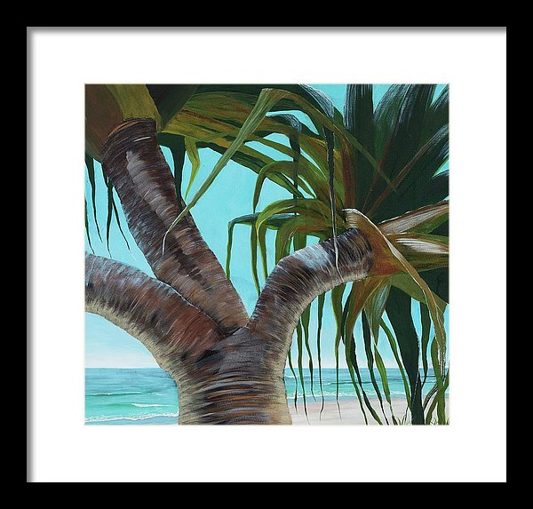 Pandanus Trunk - Framed Print