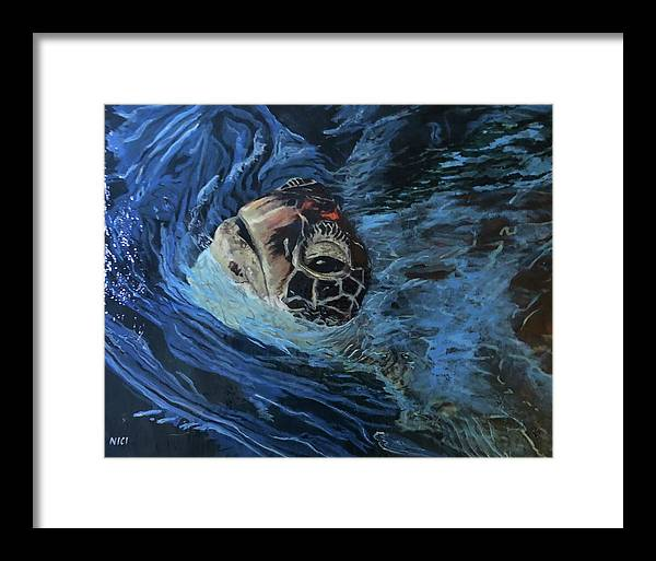 Turtle Surfacing - Art Print