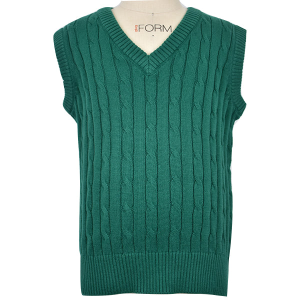 Green Cable Vest