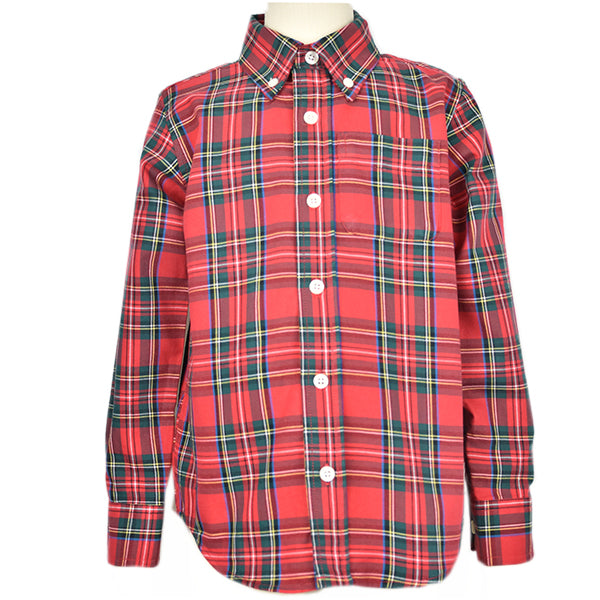 Classic Button-down Collar Plaid Shirt