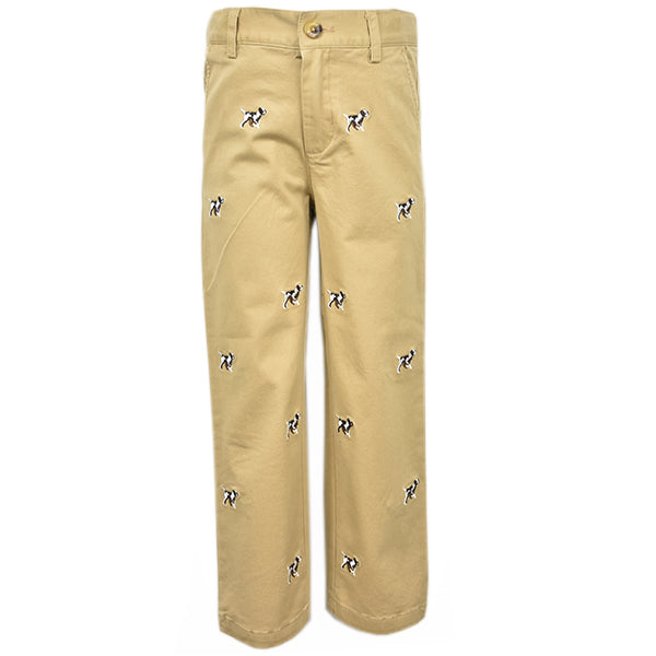 Embroidered Chino Pant - Dog