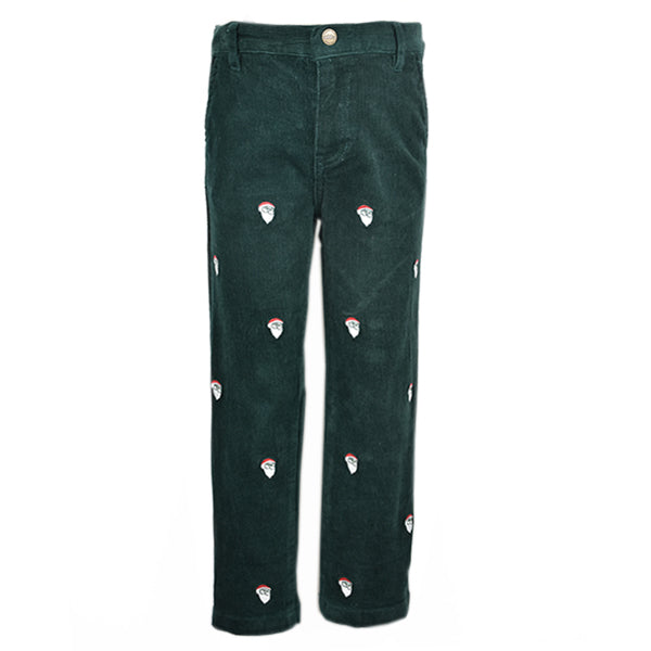 Embroidered Corduroy Pant - Santa