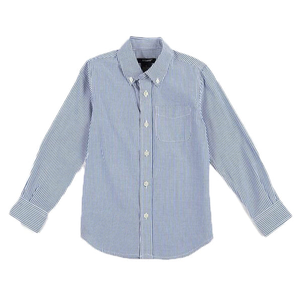 Children's OXFORD STRIPE LONG SLEEVE SHIRT