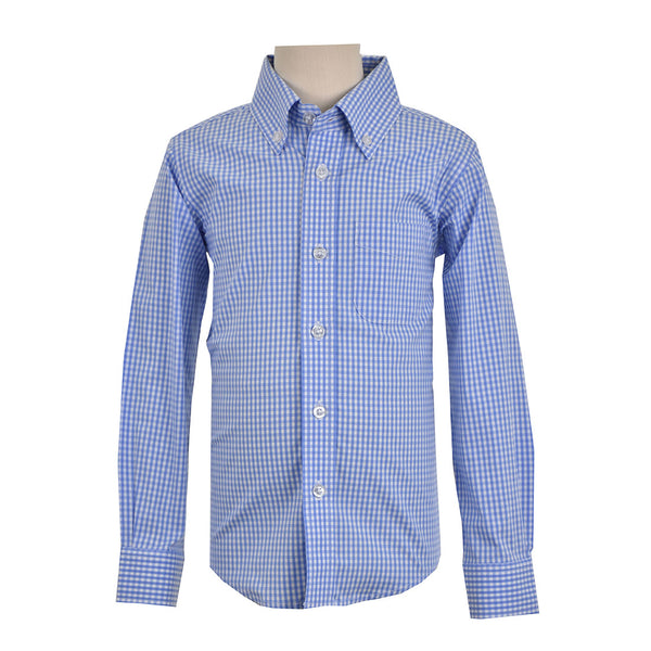 Children's PERFORMANCE MINI GINGHAM SHIRT LONG SLEEVE