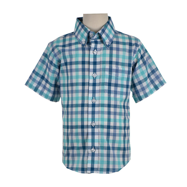 Children CHECK SHIRT SHORT SLEEVE