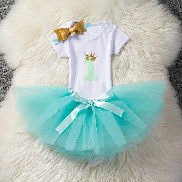 92436a4df Aini Babe Baby Girl Clothes Birthday Party Dresses for 1 Year Old ...