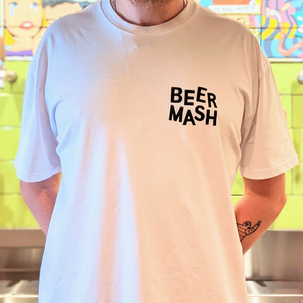 Beermash Tee White Small