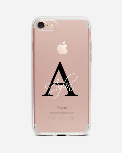 Transparent Buchstabe | Dein Name - Stylisch Case - styleyourmobilephone
