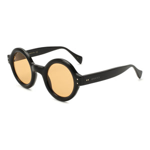 gucci, gucci eyewear, gucci sunglasses, xeyes sunglass shop, women sunglasses, fashion, fashion sunglasses, gucci made in japan, gold sunglasses gucci men sunglasses, big round sunglasses, gucci sunglasses, oversized sunglasses, GG081s, round gucci glasses, glasses with light orange lenses, gucci gg0871s 001