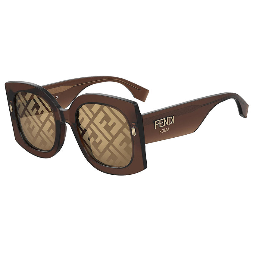 fendi sunglasses, fendi eyewear, xeyes sunglass shop, women sunglasses, fashion, fashion sunglasses, fendi, oversized sunglasses, square sunglasses, logo print lens, ff0436gs