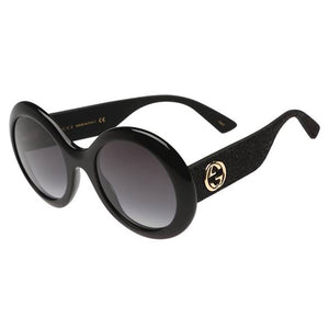 GUCCI, XEYES SUNGLASS SHOP, ROUD BLACK GLASSES