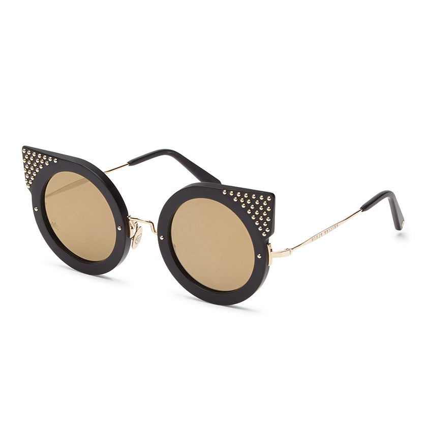 philipp plein, philipp plein eyewear, philipp plein sunglasses, xeyes sunglass shop, cat eye sunglasses, luxury, luxury sunglasses, fashion, fashion sunglasses, gold sunglassses, women sunglasses, round sunglasses, black sunglasses, studs