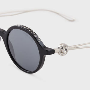 giorgio armani eyewear, giorgio armani, xeyes sunglass shop, oversized black round sunglasses, women sunglasses, fashion sunglasses, round sunglasses, giorgio armani, ar8127b