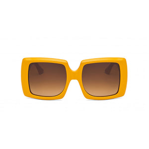 kreuzbergkinder, kreuzbergkinder eyewear, kreuzbergkinder sunglasses, xeyes sunglass shop, square sunglasses, acetate sunglasses, women sunglasses, fashion sunglasses, oversized sunglasses, brigitte, yellow sunglasses