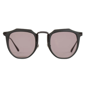 VALLEY SUNGLASSES, EYEWEAR X-EYES SUNGLASS SHOP, HANDMADE BLACK CHATEAU ANGULAR FRAME CARL ZEISS LENSES