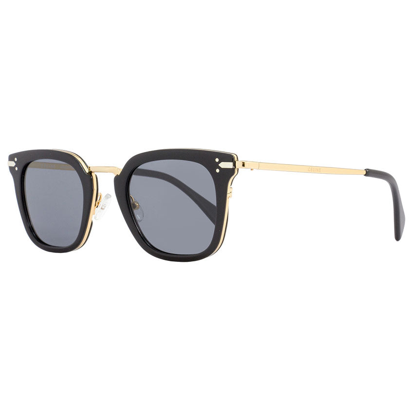 celine, celine eyewear, celine sunglasses, xeyes sunglass shop, men sunglasses, women sunglasses, fashion, fashion sunglasses, round sunglasses, black sunglasses, gold sunglasses, celine square sunglasses, cl414002s