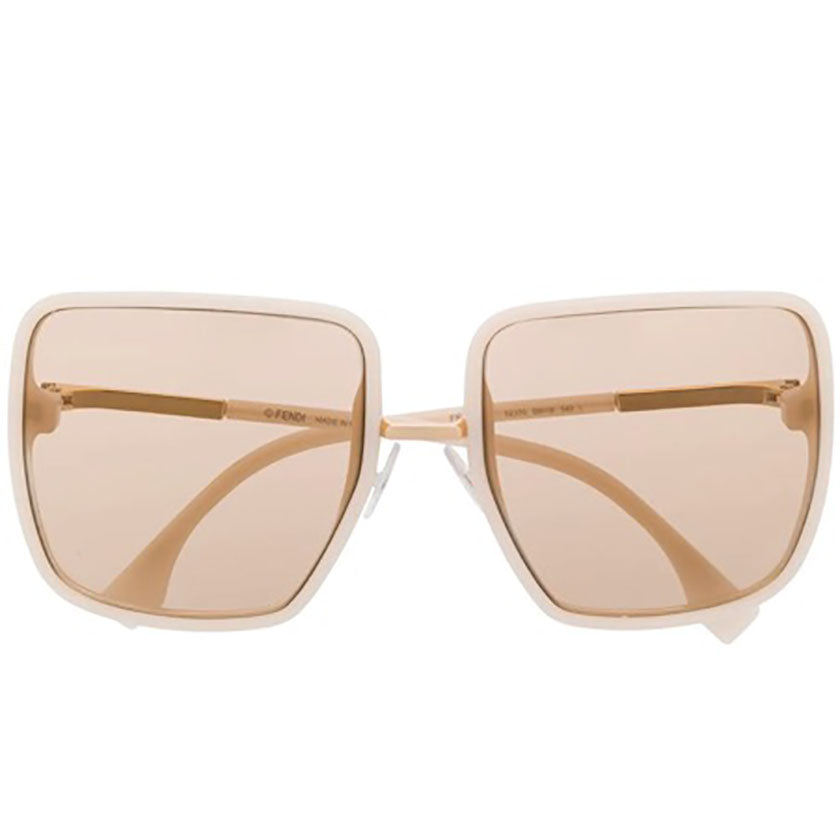 fendi sunglasses, fendi eyewear, xeyes sunglass shop, women sunglasses, fashion, fashion sunglasses, fendi, oversized sunglasses, square sunglasses, FF0402/S, nude colour fendi glasses