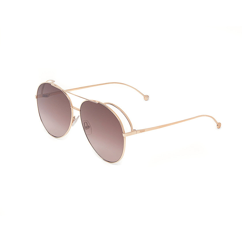 Fendi, Run Away, Aviator Sunglasses, Xeyes Sunglass Shop
