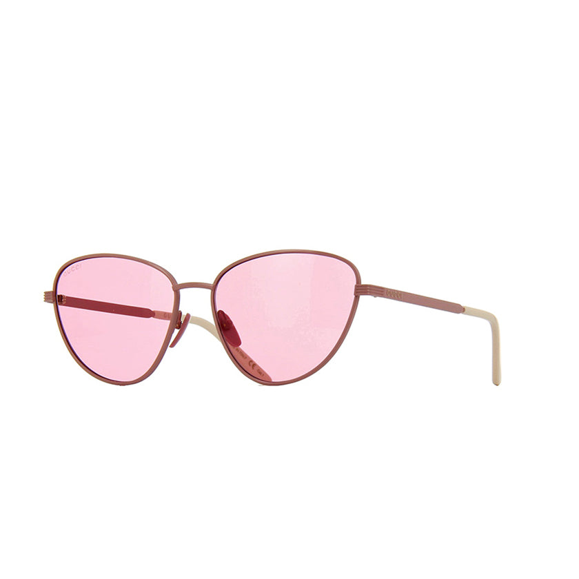 gucci, gucci eyewear, gucci sunglasses, xeyes sunglass shop, women sunglasses, fashion, fashion sunglasses, cat-eye sunglasses, pink glasses sunglasses, pink lenses
