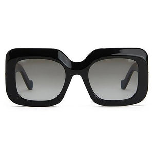 loewe, loewe sunglasses, loewe eyewear, xeyes sunglass shop, square sunglasses, oversized sunglasses, fashion,  fashion sunglasses, women sunglasses, black sunglasses