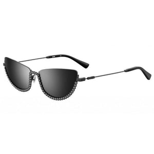 moschino eyewear, moschino sunglasses, xeyes sunglass shop, fashion, fashion sunglasses, women sunglasses, moschino, cat-eye sunglasses, metal sunglasses, crystals, silver sunglasses, mos070s