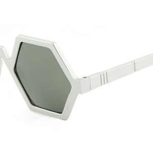 pawaka eyewear, pawaka sunglasses, xeyes sunglass shop, geometric sunglasses, hexagonal sunglasses. silver sunglasses. women sunglasses, fashion, fashion sunglasses, men sunglasses