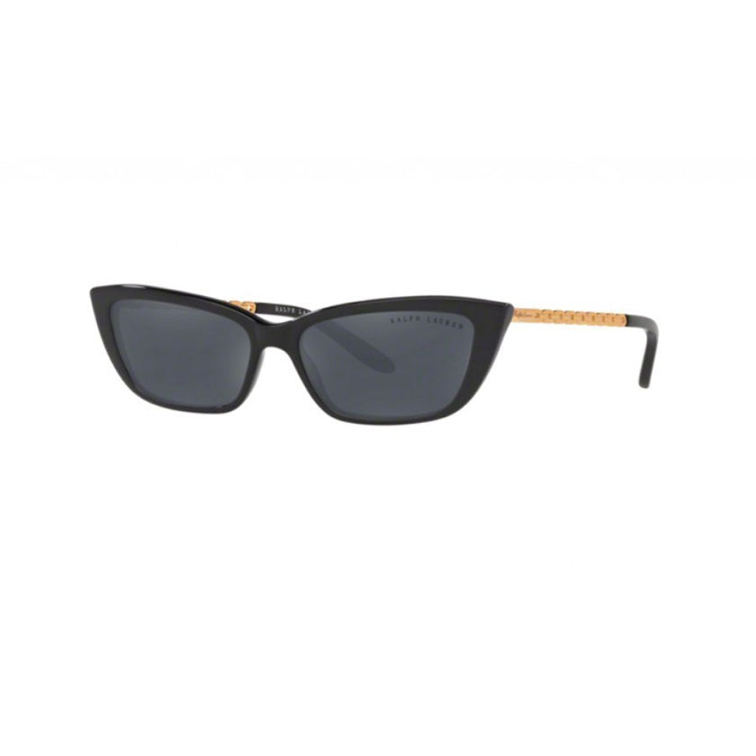 ralph lauren, ralph lauren eyewear, ralph lauren sunglasses, xeyes sunglass shop, fashion, fashion sunglasses, women sunglasses, cat-eye sunglasses, black sunglasses, acetate sunglasses, chain sunglasses rl8173