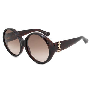 saint laurent, saint laurent sunglasses, saint laurent eyewear, xeyes sunglass shop, women sunglasses, brown sunglasses, round thick sunglasses, round sunglasses, fashion sunglasses, slm1 saint laurent