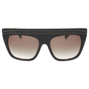 stella mccartney, stella mccartney eyewear, xeyes sunglass shop, stella mccartney sunglasses, fashion, fashion sunglasses, oversized sunglasses, women sunglasses, luxury eyewear, brown sunglasses, mask sunglasses, chain