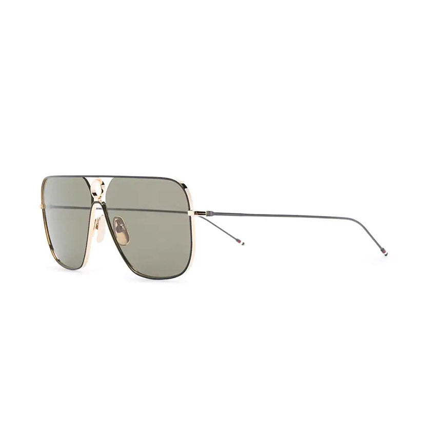 thom browne, thom browne eyewear, thom browne sunglasses, xeyes sunglass shop, titanium, titanium sunglasses, luxury, luxury sunglasses, fashion, fashion sunglasses, men sunglassses, women sunglasses, rectangular sunglasses, gold sunglasses