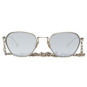 Linda Farrow, Alessandra Rich, Octagonal platinum mirror sunglasses, Sunglasses, Women Sunglasses