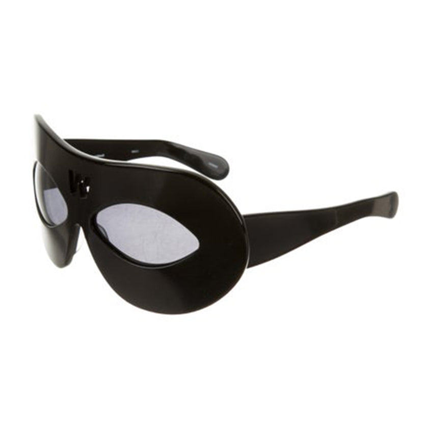 walter van beirendonck x linda farrow, walter van beirendonck sunlgasses, linda farrow collaborations, collectible heart glasses, black walter van beirendonck, xeyes sunglass shop, xeyes, mask sunglasses
