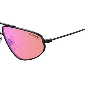 carrera, carrera eyewear, carrera sunglasses, xeyes sunglass shop, men sunglasses, women sunglasses, rectangular sunglasses, fashion, fashion sunglasses, black sunglasses, 1021/S carrera light pink lenses