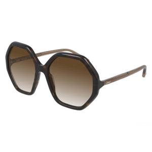 chloe, chloe eyewear, chloe sunglasses, xeyes sunglass shop, women sunglasses, fashion, fashion sunglasses, oversized sunglasses, brown sunglasses, octagonal sunglasses, ch0008s, esther