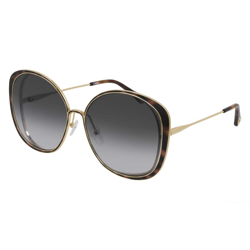 chloe, chloe eyewear, chloe sunglasses, xeyes sunglass shop, women sunglasses, fashion, fashion sunglasses, oversized sunglasses, gold sunglasses, square sunglasses, ch0036s
