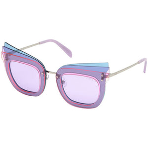 emilio pucci eyewear, emilio pucci, xeyes sunglass shop, big round metal sunglasses, women sunglasses, fashion sunglasses, round sunglasses, ep105 pink emilio pucci glasses