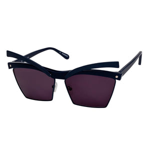 house of holland, house of holland eyewear, house of holland sunglasses, xeyes sunglass shop, acetate sunglasses, fashion, fashion sunglasses, women sunglasses, cat-eye sunglasses, square sunglasses, black sunglasses, moveable eyebrows, metal sunglasses